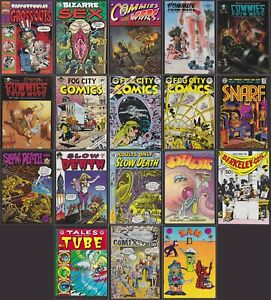 Insane Underground Comix Lot! 18 Comics! -R Holmes -R Griffin -J Pound -W Stout+