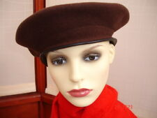 SMALL SIZE KANGOL BRANDED WOOL BERET LEATHER TRIM ONLY £4.99 AND FREE  P&P.