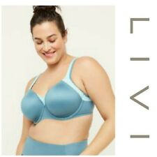 Livi Active x Lane Bryant Plus Sz 38DDD Medium Impact Underwire Sports Bra Blue