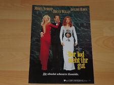 DER TOD STEHT IHR GUT - Presseheft ´92 - BRUCE WILLIS Meryl Streep GOLDIE HAWN