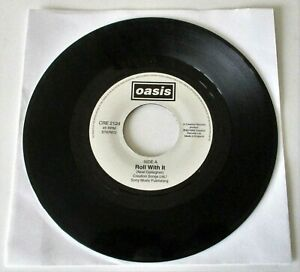 """Oasis - Roll With It UK 1995 Creation Records Jukebox 7"""" Single"""