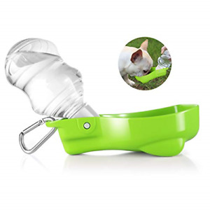 Flexzion Portable Pet Water Dispenser Bottle for Dog Cat - Compact Travel Water