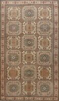 Vintage Geometric Anatolian Turkish Oriental Area Rug Wool Hand-knotted 6x10 ft