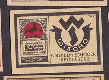 Ancienne étiquette   allumette  Allemagne BN20331 Cheval
