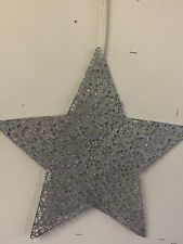 Large Silver Sparkly Hanging Star