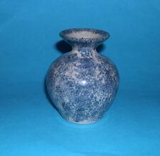 Mick Arnold Caoldair Studio Pottery Scotland - Mottled Blue Posy Vase -Full Mark