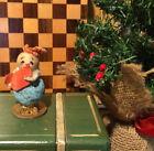 Vintage Japan Putz Mica Spun Cotton Chenille Hat Snowman Christmas Ornament