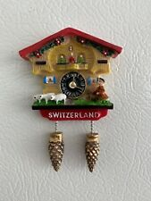 Switzerland 3D Magnet Cuckoo Clock Travel Souvenir