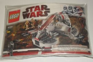 Lego 8091 Star Wars Republic Swamp Speeder. RARE & RETIRED! 100% complete!