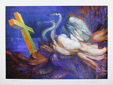 Ernst Fuchs - Die Schwanenreise - handsigniert