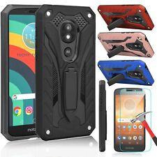 For Motorola Moto E5 Play / E5 Cruise Shockproof Kickstand Case+Screen Protector