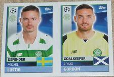 QFB3 4 Lustin Craig Gordon CELTIC 2016/2017 Topps Champions League stickers