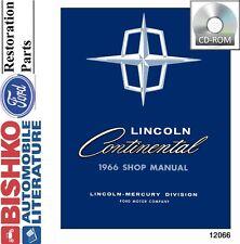 1966 Lincoln Continental Shop Service Repair Manual CD