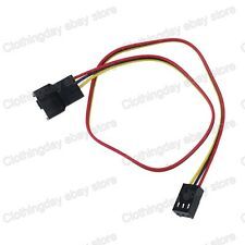 """30cm 9""""  Molex 3Pin Female to 3pin Male Fan Power Extension Cable Adapter Wire"""