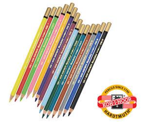 KOH-I-NOOR Mondeluz Aquarellstifte wasservermalbar - Einzelstifte - 100 Farbtöne