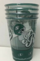 4 CFL Saskatchewan Roughriders NEW 4 Pack Plastic Beer CUPS Canadian Football