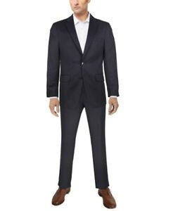 Van Heusen Men's Flex Plain Slim-Fit Suit, Blue, Size 44R   W37 x L32, NwT
