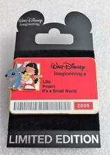 Disney WDI It's a Small World Lilo & Stitch I.D Badge 2009 LE 300 Cast Pin