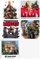 Jurassic World LEGO Stickers x 5 - Birthday Party Favours Lego Jurassic Loot