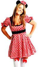 Womens Minnie Mouse Disney Fairy Tale Ladies Fancy Dress  Costume Size 14 - 16