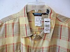 Men's Mecca USA Shirtworks yellow/red/beige plaid short sleeves new with tag XXL