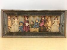 Beautiful Rustic Barn Wood Framed Victorian Doll Wall Art