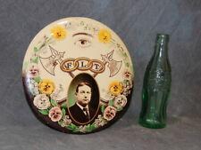 """Original Antique 1920 Odd Fellows 9"""" Celluloid Button Sign, Vintage Advertising"""