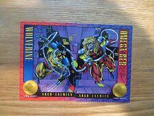 1993 MARVEL X-MEN II WOLVERINE VS OMEGA RED 2 CARDS SIGNED BRANDON PETERSON, POA