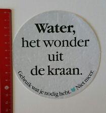 Aufkleber/Sticker: Water het wonder uit de kraan Gebruik wat je nodig (110217113