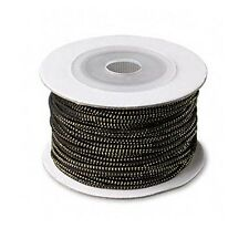 Black & Shiny Gold 1mm Thick Elastic Cording String Sold in Bulk by 3 Yards
