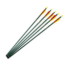 "Heavy duty aluminium arrows 30"" green 10 arrows (2 pk of 5) Armex"