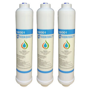 Replacement Under Sink Water Filter Cartridges Inline (AQ) Pack of 3 Filters