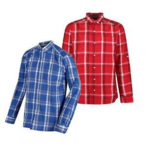 Regatta Mens Mindano III Long Sleeve Casual Summer Checked Shirt. RRP £35