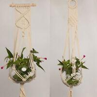 EE_ Pot Holder Macrame Plant Hanger Hanging Planter Basket Jute Braided Rope New