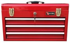 Red Portable Tool Box 2-Tray 20.5 W x 8.6 D x 11.8 H Steel Center Lock