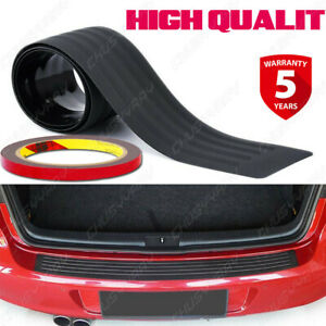 Black Rubber Surface Protector Cover Rear Bumper For BMW / Mercedes-Benz