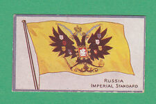 R. & J. HILL LTD. - RARE  FLAG  CARD  -  NO. 18  RUSSIA  IMP.  STANDARD  -  1914