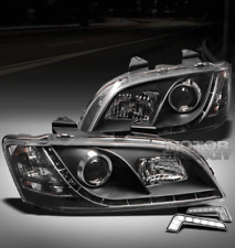 08 09 10 PONTIAC G8 GT GXP LED BLACK PROJECTOR HEADLIGHT W/DRL SIGNAL LEFT+RIGHT