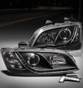 08 09 10 PONTIAC G8 GT GXP LED BLACK PROJECTOR HEADLIGHT W/DRL SIGNAL LEFT+RIGHT