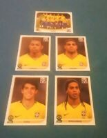 PANINI RONALDINHO ADRIANO ROBINHO KAKA    world cup  2010 BRASIL TEAM ROOKIE