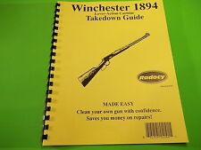 TAKEDOWN MANUAL GUIDE for Winchester LEVER ACTION 1894 Carbine, Legendary 94