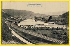 cpa Lorraine 54 - MARON en 1914 Vallée de la MOSELLE et BARRAGE Chemins de fer