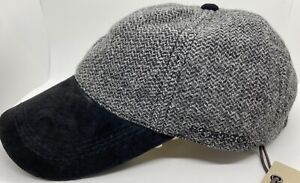 STETSON Black / Grey adjustable ball cap Hat baseball Legendary Unisex Wool NWT