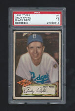 1952 Topps #1 Andy Pafko PSA  3 Dodgers Black Back