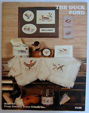 Duck Pond Cross Stitch Pattern Booklet 20 Designs 1982 Country Cabin Decor