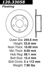 Disc Brake Rotor-High Performance Slotted Centric fits 97-01 Audi A6 Quattro