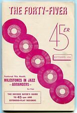 """THE FORTY-FIVER"" 45/EP Guide - September 1956 - JAZZ ARRANGERS"