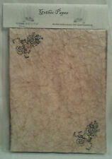 Gothic Themed Antiqued Paper - 10 Sheets