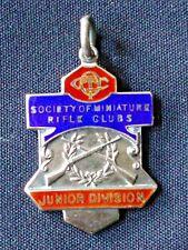 More details for sterling silver s.m.r.c. shooting medal. hm.1933.  junior division. v.g.detail.