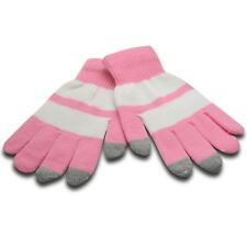 Itouch Gloves Touchscreen IPHONE Smartphone And Shelves Pink & White SIZE S